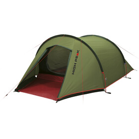 High Peak Kite 3 Tent pesto/red